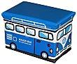 Organizador de juguetes con medidas de 40x25x25 cm con diseño de furgoneta para ir al surf. essencial  Essencial