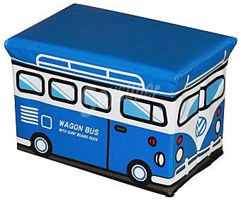 Essencial Organizador de juguetes con medidas de 40x25x25 cm con diseño de furgoneta para ir al surf. essencial