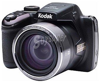 """KODAK AZ521 Cámara Bridge 16 Megapixeles, Zoom óptico 52x, pantalla de 3"""", color negra."""