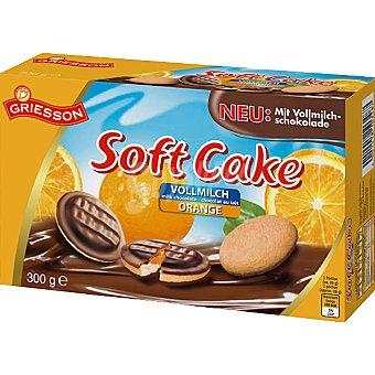 GRIESSON Soft Cake Galletas rellenas de naranja con chocolate Paquete 300 g
