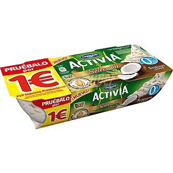 Activia Danone Selección yogur natural desnatado 0% materia grasa con 5 cereales y coco  unidades 115 g