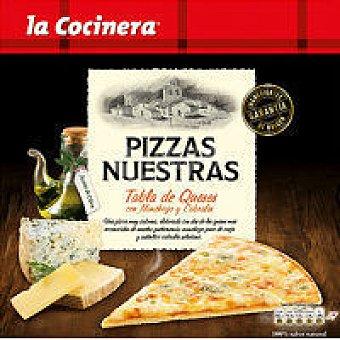 La Cocinera Pizzas Nuestras de tabla de queso Caja 290 g