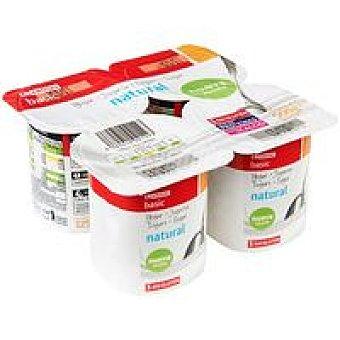 Eroski Basic Yogur natural Pack 4x125 g