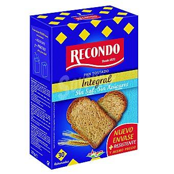 Recondo Pan tostado integral sin sal y sin azúcar 270 g