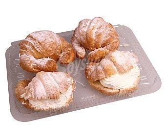 Pasteleria Croissant de nata 4 unidades 350 gramos 4u 350g