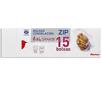 Auchan Bolsa Congelación Grande Cierre Zip 15 Unidades