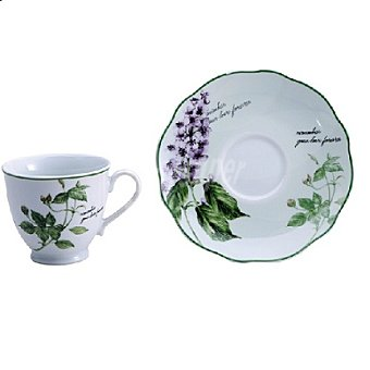 Set de té en porcelana 200ml DECORADO Mod. REMEMBER 1 ud