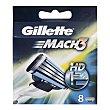 Recambio maquinilla de afeitar  Blíster 8 uds Gillette Mach3