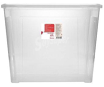 Auchan Caja de ordenación con tapa, , 58,2x38x45,8cm. auchan 67 litros
