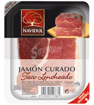 Navidul Jamón curado taco loncheado 220 g