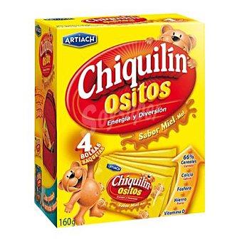 Chiquilín Artiach Galletas de cereales ositos con miel 160 g