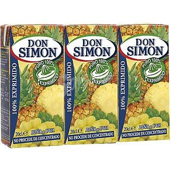 DON SIMON zumo de piña y uva pack 3 envase 200 ml