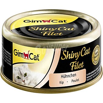 Gimpet SHINY CAT alimento húmedo para gatos filetes de pollo envase 70 g envase 70 g