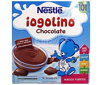 Iogolino Nestlé Postre lácteo de chocolate Pack 4 envase 100 g