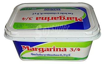 Hacendado Margarina vegetal baja en sal (leche, vitamina a+d+e) Tarrina 500 g