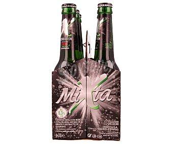 Mixta Mahou Cerveza con ron, menta y guaraná botella de 33 centilitros pack de 6