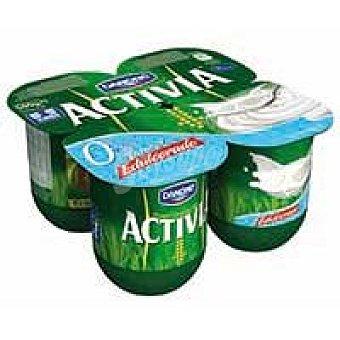 Activia Danone Yogur desnatado natural edulcorado 4 unidades de 125 g