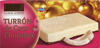 Hacendado Turron coco al chocolate *navidad* Pastilla 300 g