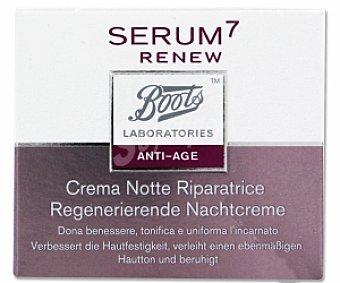 BOOTS SERUM 7 Crema revitalizante antiedad para la noche con ácido glucónico, 50 Mililitros