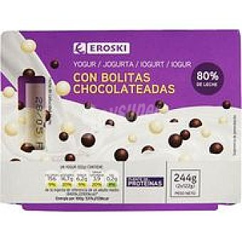 Eroski Yogur mix bolitas Pack 2x122 g