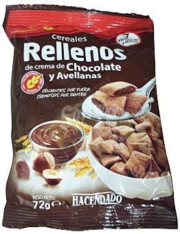 Hacendado Cereal relleno crema chocolate y avellanas Bolsa 72 g
