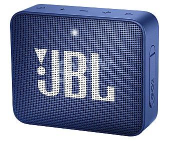 JBL Mini altavoz por batería, potencia 3W, conexión Jack 3.5mm, Bluetooth, micrófono integrado, color azul Go 2 Blue