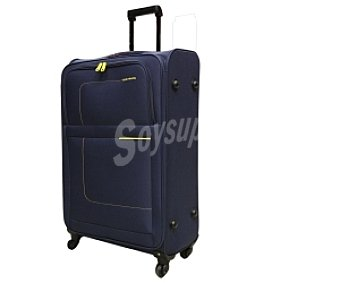 JOHN TRAVEL Maleta de 4 ruedas abs, flexible, Material: eva, color azul, jonh travel. Medidas 70 Centímetros. (42,95€/UN ) Trolley Flexible 70cm