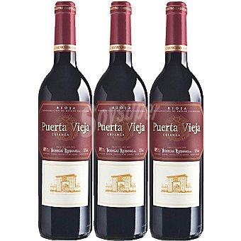 Puerta Vieja Vino tinto crianza D.O. Rioja Estuche 3 botellas 75 cl Estuche 3 botellas 75 cl