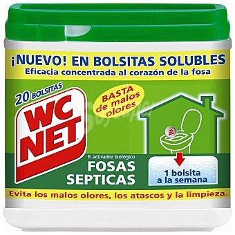 WC Net Limpia tuberías fosas sépticas 20 bolsitas 20 bolsitas (360 g)