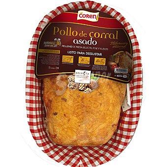 Coren Pollo corral relleno asado listo para degustar con presa, foie y nueces 1 unidad