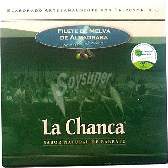 LA CHANCA Filetes de melva de Almedraba en aceite de oliva Lata 385 g neto escurrido