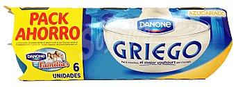 DANONE OIKOS Yogur griego natural azucarado 6 unidades de 115 g