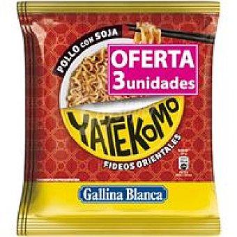 Gallina Blanca Yatekomo bag de pollo con soja Pack 3x79 g