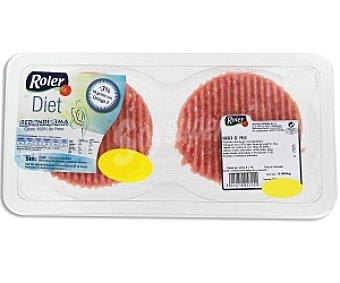 ROLER Burger Meat de pavo Bandeja 160 Gramos 2 Unidades
