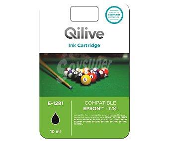 Qilive Cartucho de tinta compatible (epson T1281) E-1281, negro negro