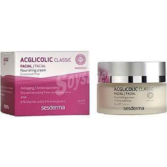 Sesderma Acglicolic classic crema nutritiva antienvejecimiento para pieles secas y muy secas tarro 50 ml Tarro 50 ml