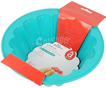 Actuel Molde redondo de silicona para tartas, 20 centímetros de diámetro 1 unidad