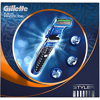 Gillette Maquinilla de afeitar + gel de afeitar Gillette Fusion Proglide transparente FUSION PROGLIDE Styler Tubo 175 ml