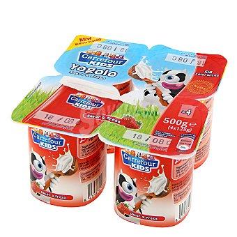 Carrefour Kids Yogur sabor fresa Pack de 4x125 g