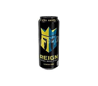 Reign Bebida carbonatada sabor a limón con bcaa, cafeína, l-arginina, vitaminas B y edulcorantes Lata 50 cl