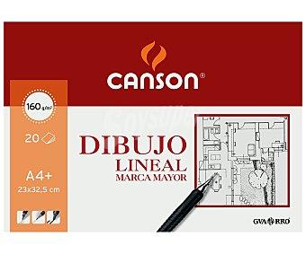 Canson Bloc de dibujo lineal con 20 hojas de 160 gramos y de 23x32.5 centímetros 1 unidad