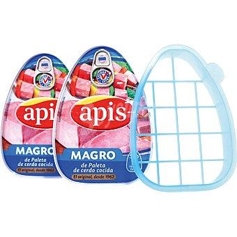 Apis Magro de cerdo cocido Pack 2 lata 200 g