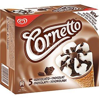Cornetto Helado chocolate 5 ud
