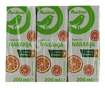 Productos Económicos Alcampo Zumo de naranja Brick de 6 uds