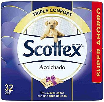 Scottex Papel higienico Acolchado Paquete 32 rollos