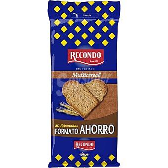 Recondo Pan tostado 10 cereales alto contenido en envase ahorro 80 rebanadas paquete 640 g Paquete 640 g