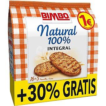 Bimbo Panecillos integrales tostados 100% natural  paquete de 234 g