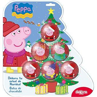 DEKORA Peppa Pig bolas de árbol de Navidad de chocolate  unidad 75 g