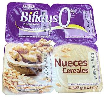 HACENDADO Yogur bifidus desnatado nueces y cereales 4 unidades de 125 g (500 g)