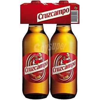 Cruzcampo Cerveza rubia nacional Pack 2 botella 75 cl